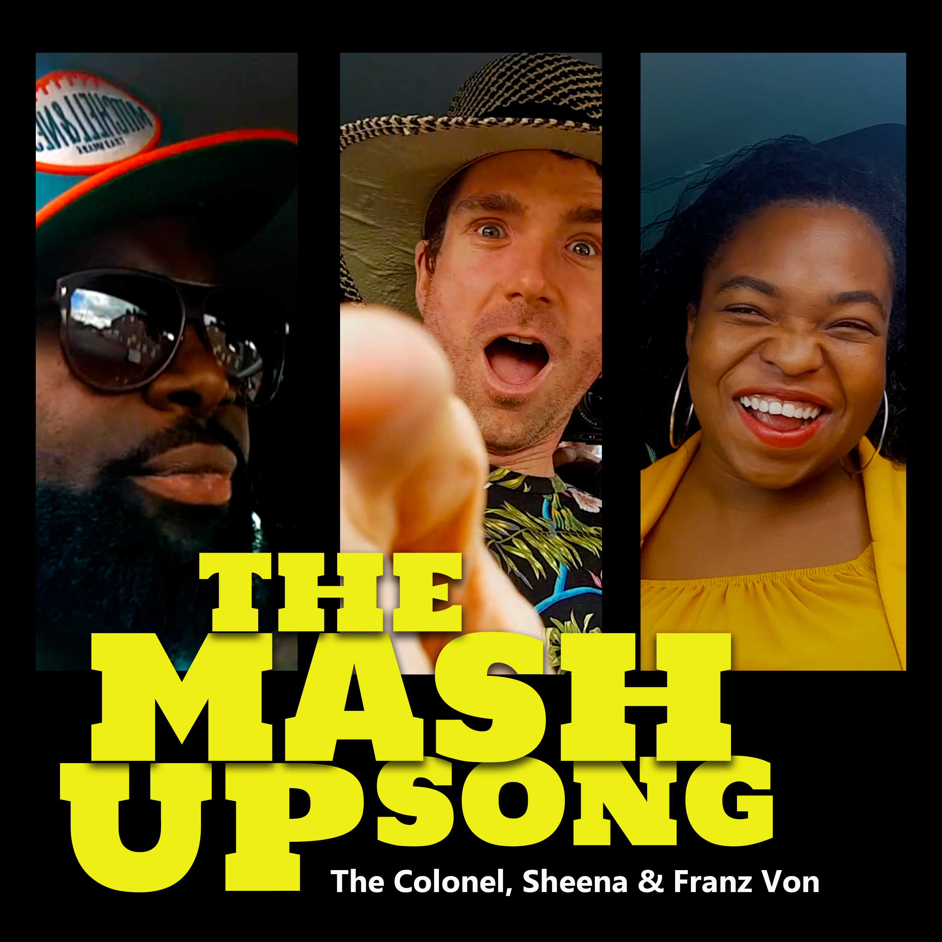 The Colonel, Sheena & Franz Von - 'The Mash Up Song' - Cover Art